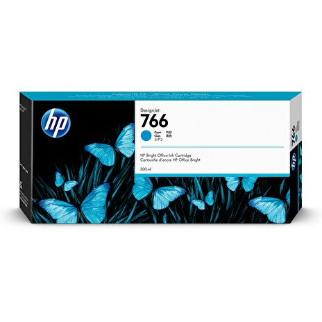 HP 766 300-ml Cyan Ink Crtg