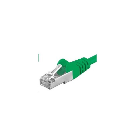 PREMIUMCORD Patch kabel CAT6a S-FTP, RJ45-RJ45, AWG 26/7 2m zelená