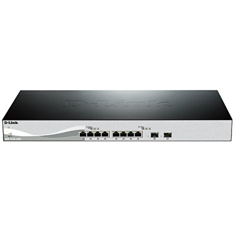 D-Link DXS-1210-10TS 10-port 10Gigabit Smart Managed Switch, 8x 10GbE RJ45, 2x 10GbE SFP+