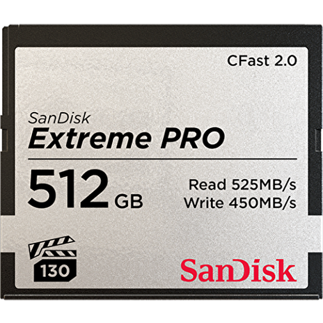 SanDisk CFAST 2.0 512GB Extreme Pro (525 MB/s VPG130)